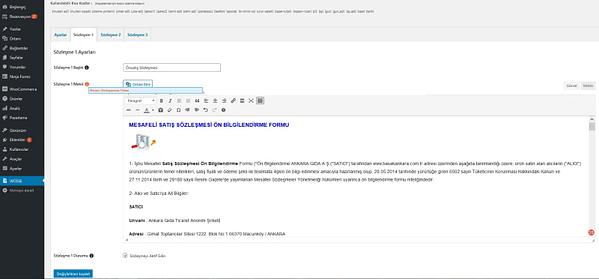 WOSSE- WooCommerce Ödeme Sayfası Sözleşmelerine Müşteri Bilgilerini Otomatik Ekleme Eklentisi